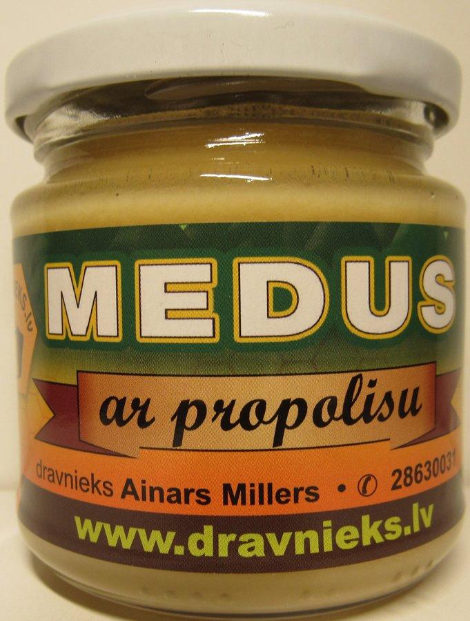 Medus ar propolisu 250g