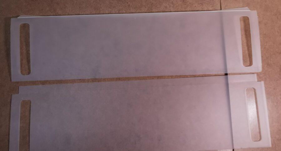 PVC rāmju pārklājs, 2gab
